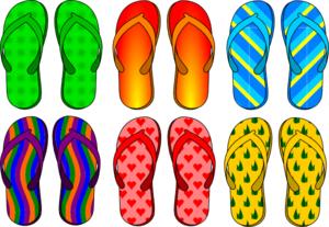 Flip Flops useful as slippers