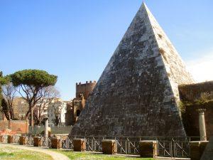 Gaius Cestius Pyramid in Rome