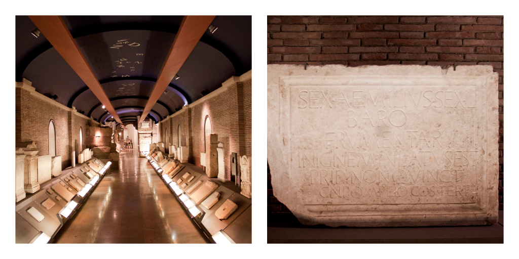 Hall of Ancient Languages at Capitoline Museum on capitol Hill