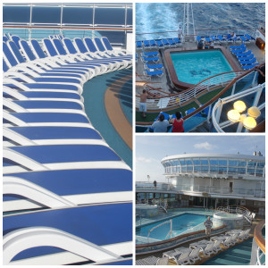 Pools on Crown Princess Cruise Ship