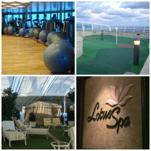 Fitness and relaxation on Crown Princess Cruise Ship