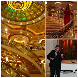 The Piazza on Crown Princess Cruise Ship
