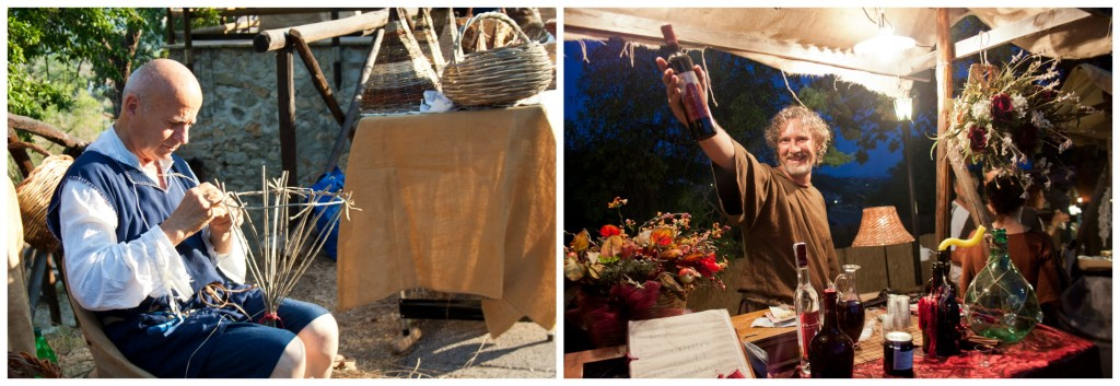 Basket Weaver and Wine Seller COLLAGE